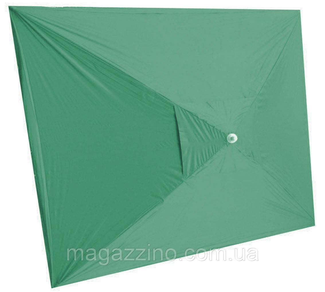 Зонт прямоугольный с ветровым клапаном, Зеленый, 3 х 2 м.