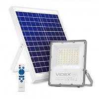 LED прожектор на солнечной батарее автономный Videx 30W 5000К VL-FSO-1005