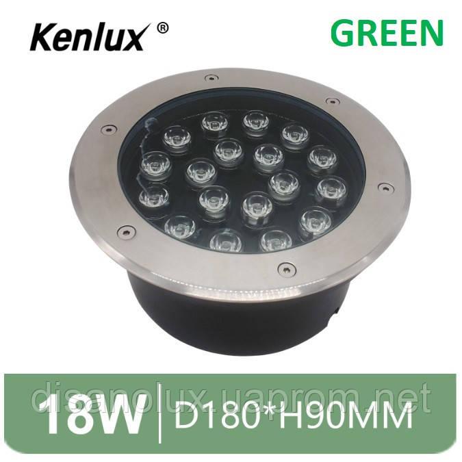 Світильник грунтовий K-2802 LED 18W 230V розмір 180мм * 90мм IP65 GREEN