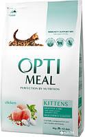 Сухой корм Optimeal Kittens (Оптимил) для котят с курицей  4 кг