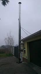 Комплект димоходу утеплений ф130/200 нерж/нерж AISI 304, 0,8 мм