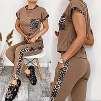 Яркий женский костюм с леопардовыми вставками, фото 1