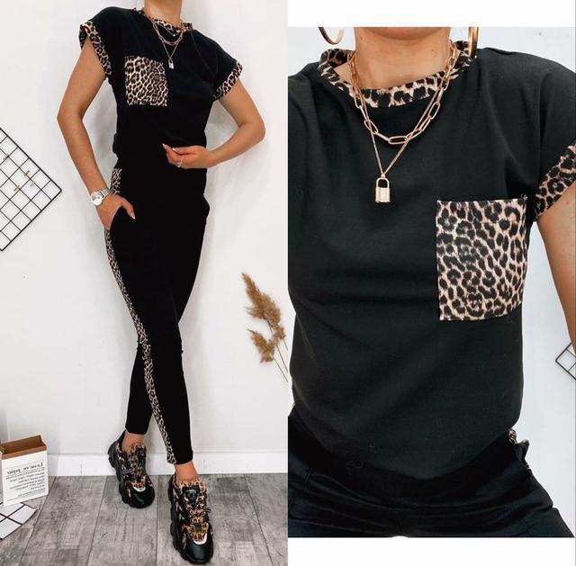 Летний костюм с леопардовыми вставками оптом Arut оптовый интернет магазин женской одежды арут