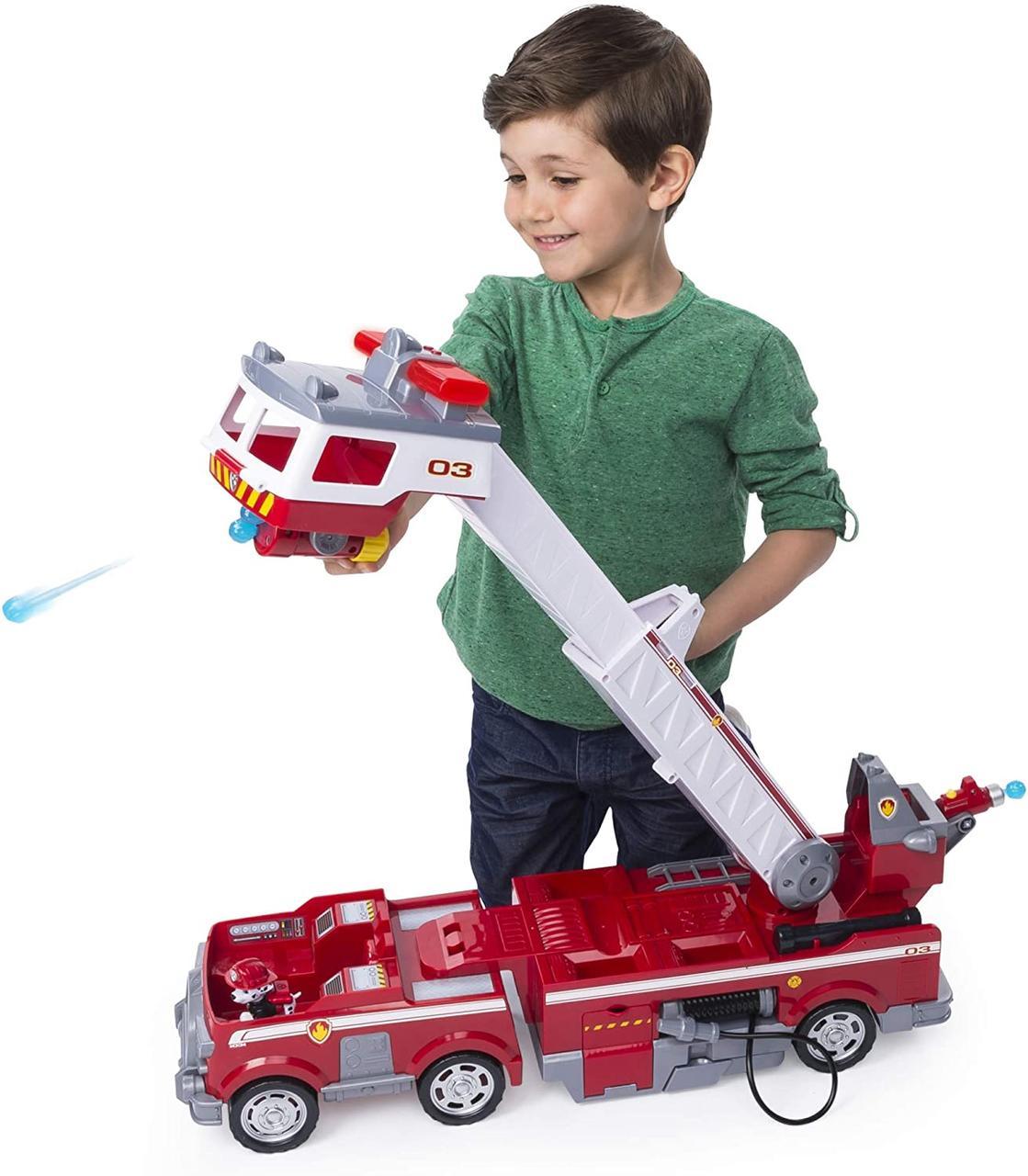 Набор Paw Patrol - Ultimate Rescue Fire Truck (Щенячий патруль, Большая пожарная машина Маршалла, звук и свет)
