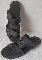 Мужские кожаные шлепанцы большого размера ессо 46,47,48,49,50, фото 1