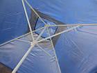 Зонт квадратный с ветровым клапаном, Синий, 3 х 3 м., фото 5