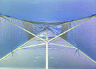 Зонт квадратный с ветровым клапаном, Синий, 3 х 3 м., фото 6