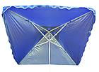 Зонт квадратный с ветровым клапаном, Синий, 3 х 3 м., фото 4