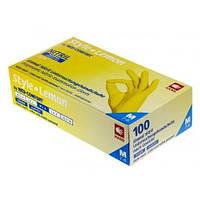 Перчатки нитриловые без пудры Ampri STYLE, лимонные, 100 шт/ 1 уп XL