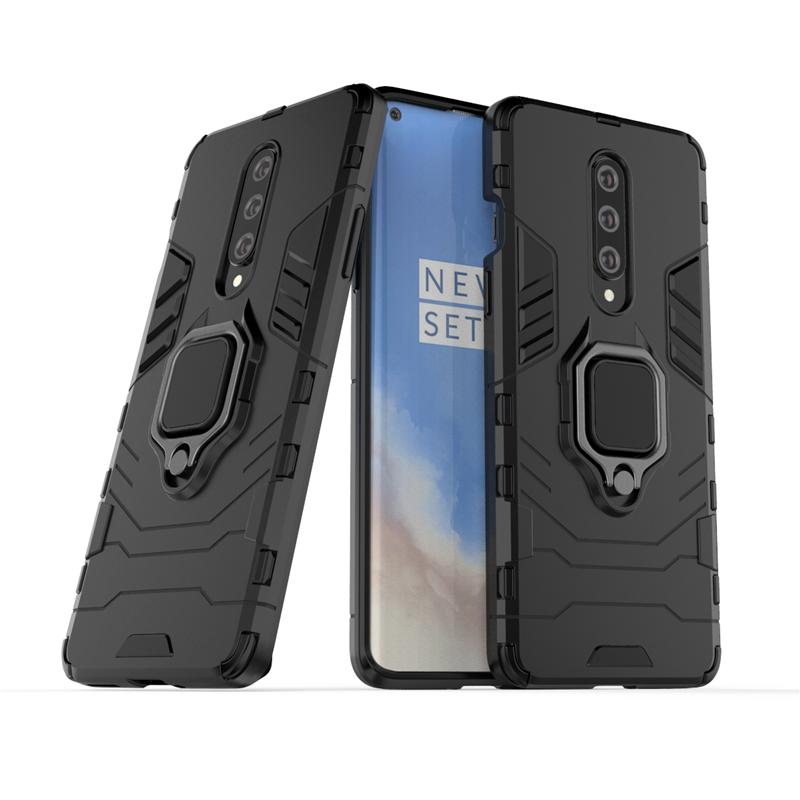 Чохол Ring case для OnePlus 8 броньований бампер з кільцем чорний