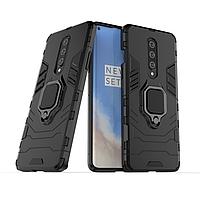 Чохол Ring case для OnePlus 8 броньований бампер з кільцем чорний, фото 1
