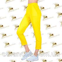 Стильные брючки желтая двунитка