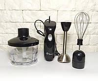 Блендер миксер измельчитель 3в1 электрический, чоппер, венчик, ножи для измельчения, чаша 600мл