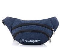 Сумки на пояс, бананка 047 Instagram blue Бананка сумка — широкий выбор, доступные цены. Поясные сумки бананки, фото 1