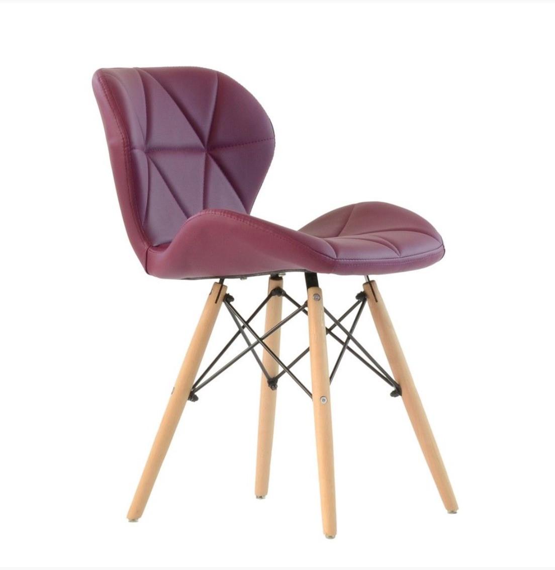 Стул Invar (Инвар)   ЭК экокожа ,цвет пурпурный 61