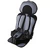 Бескаркасное детское автокресло портативное / Кресло автомобильное (серое), фото 3