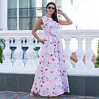 """Лляне літнє плаття максі """"Іспанія"""""""