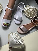 Женские летние кожаные босоножки без каблука Dior!