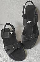 Кожаные мужские летние сандали Nike большого размера 46, 47, 48, 49, 50, фото 1