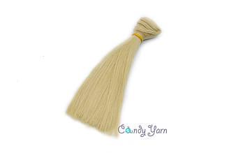 Волосы прямые-трес, песочный 15см*100см