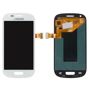 Модуль для Samsung Galaxy S3 mini, Samsung I8190 , белый, дисплей + сенсор