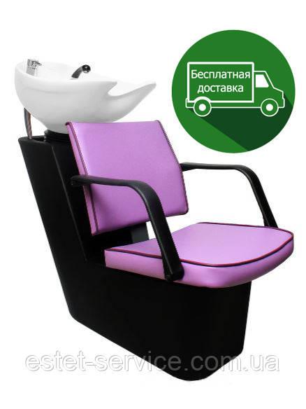 Мойка пластиковая Прима в парикмахерскую с креслом ЛИРА
