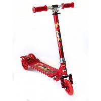 Самокат Scooter для детей складной, от 2-х лет, светящиеся колеса