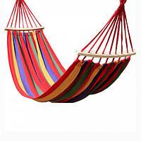 Мексиканский гамак тканевый 190 x 80, полосатый, подвесной | гамак підвісний