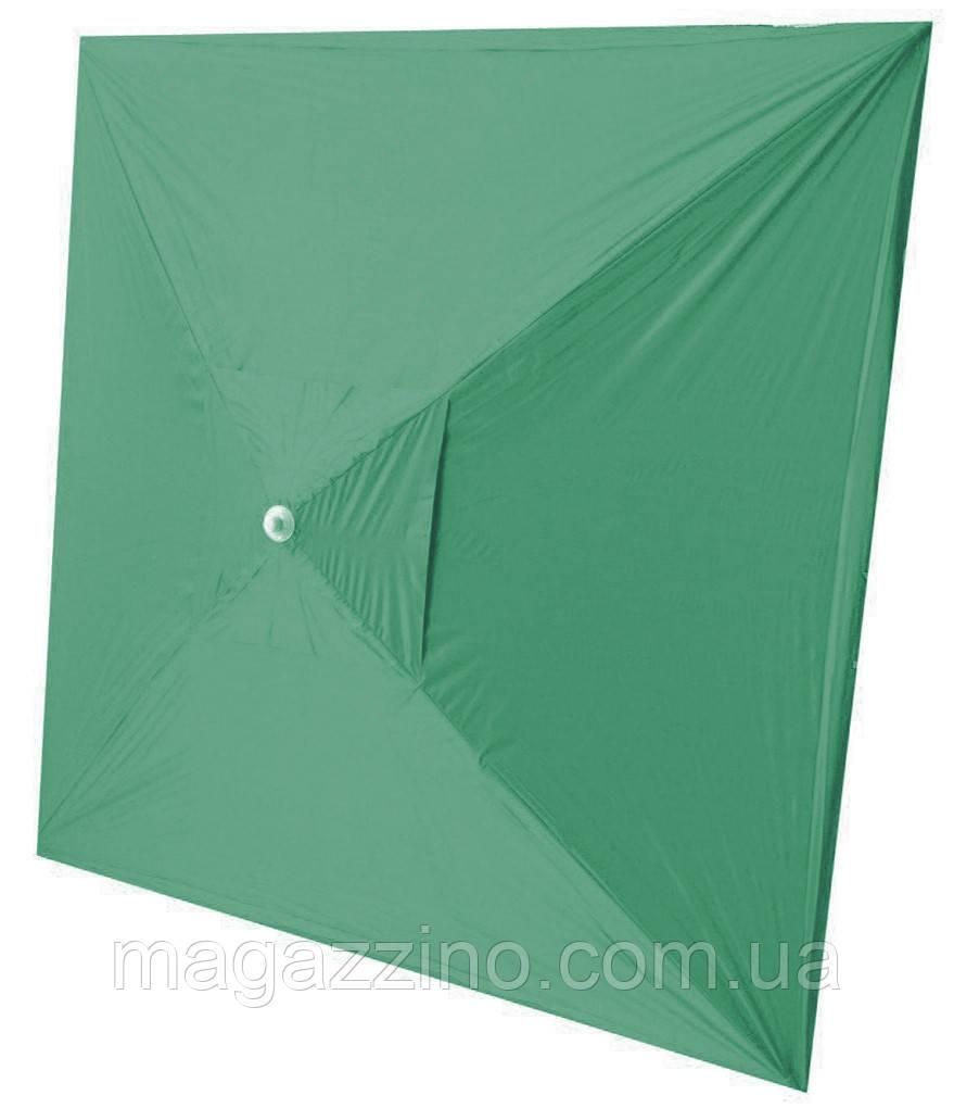 Зонт квадратный с ветровым клапаном, Зеленый, 2 х 2 м.