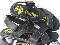 Мужские босоножки Timberland черные кожаные сандали сандалии обувь лето, фото 1