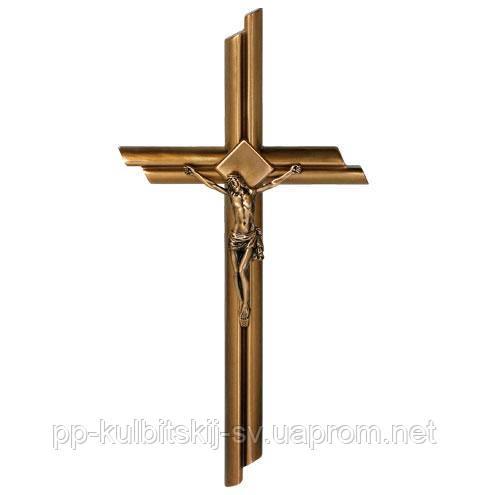 Хрест з розп'яттям на памятник бронзовий Caggiati24374/50