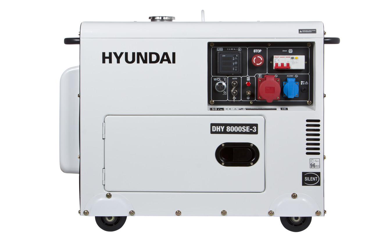 Трьохфазний дизельний генератор Hyundai DHY 8000SE-3 (6,5 кВт)