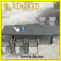 Обеденный стекляный стол Rona Rengard 340Х100Х75. Стол для улицы,для террасы,для дома,для кухни