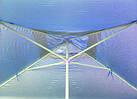 Зонт квадратный с ветровым клапаном, Синий, 2 х 2 м., фото 7