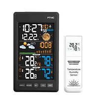 """Метеостанция c барометром выносным датчиком ЖК 5.6"""" PT19C, цветной экран PRC"""