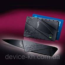 Складной нож-кредитка CardSharp 2 Черный | sharp card ніж кредитка