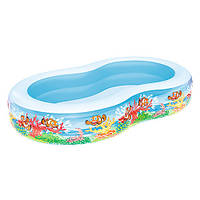 Детский надувной бассейн Bestway для плаванья BW 54118 Подводный мир 262х157х46 см (54118)
