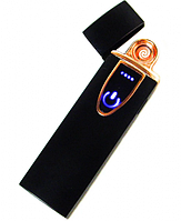 Зажигалка электрическая спиральная USB ZGP 7, Сенсорная USB зажигалка, фото 1