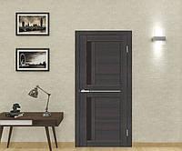 Двери межкомнатные Deco 01 Cortex чёрное стекло