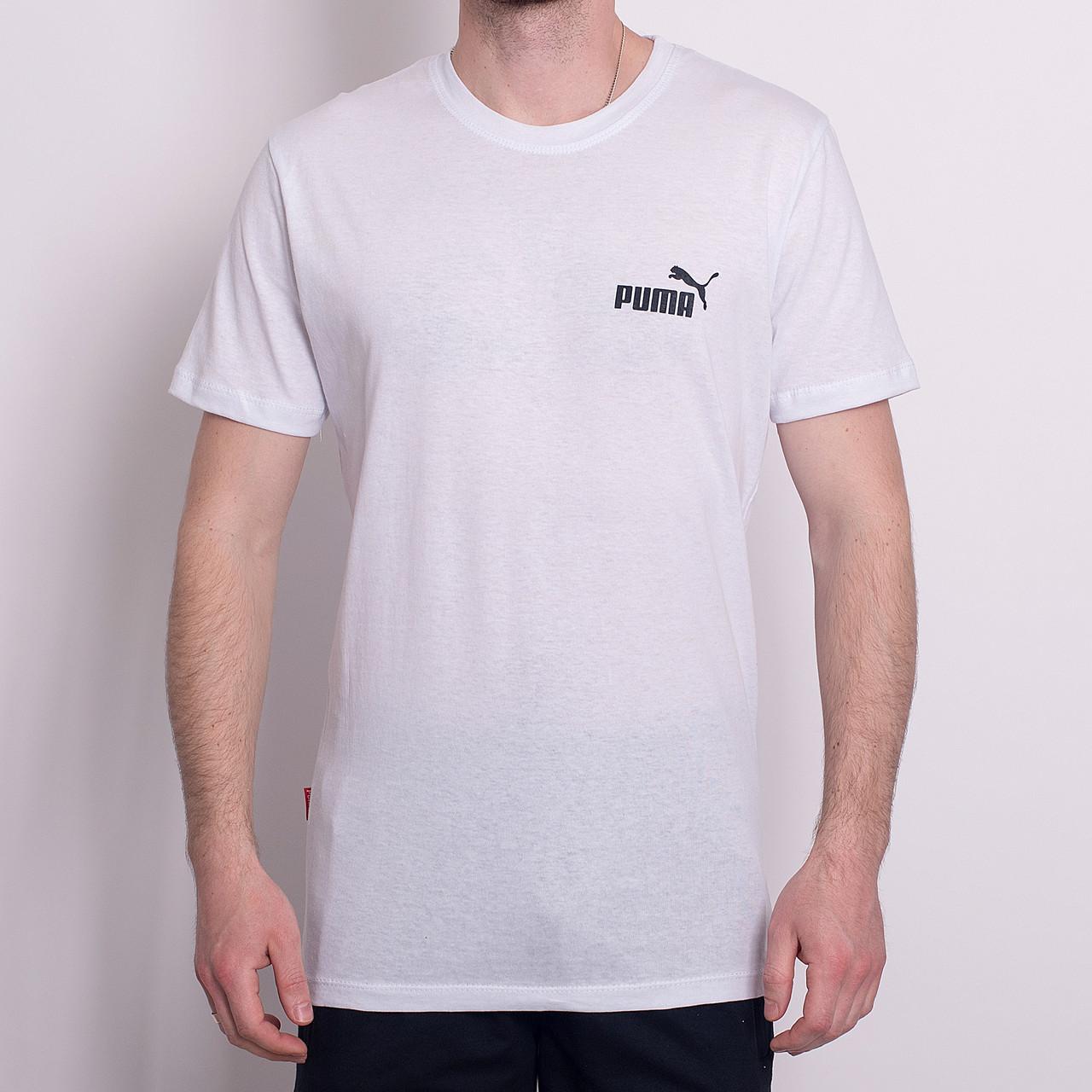 Чоловіча спортивна футболка PUMA, білого кольору