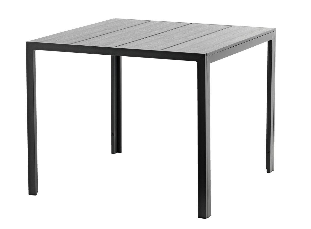 Стол садовый 90x90см черный из артвуда