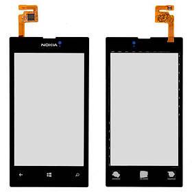 Сенсор (тачскрин) для Nokia 520 Lumia черный Оригинал