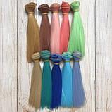 Волосся для ляльок (тресс) 15 * 100 см Колір 65, фото 2