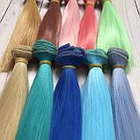Волосся для ляльок (тресс) 15 * 100 см Колір 65, фото 3
