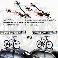 Thule ProRide 591 и 598 - в чем разница?