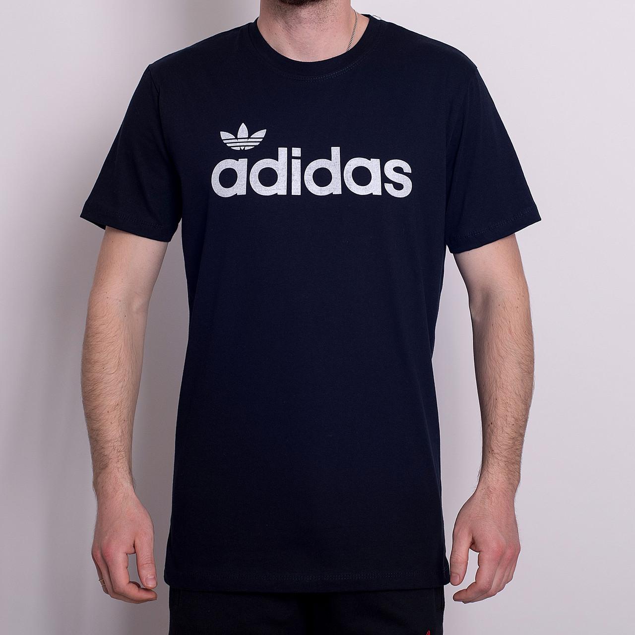 Чоловіча спортивна футболка Adidas, темно-синього кольору