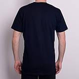 Чоловіча спортивна футболка Adidas, темно-синього кольору, фото 2