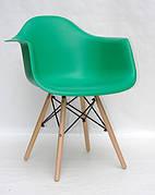 Крісла пластикові обідні LEON на букових ніжках