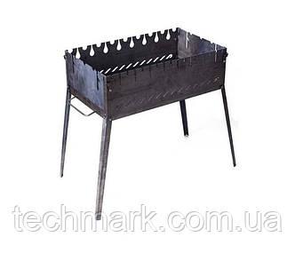 Раскладной мангал чемодан на 8 шампуров из из черного металла