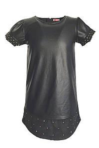 Платье для девочки из экокожи